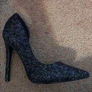 Never worn glitter heels